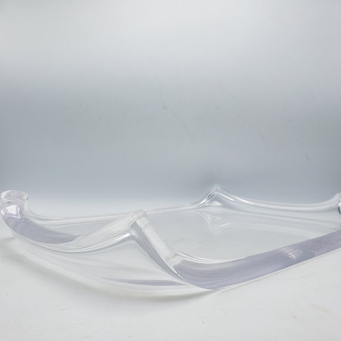 MCM Lucite Serving Tray with Curved Corners
