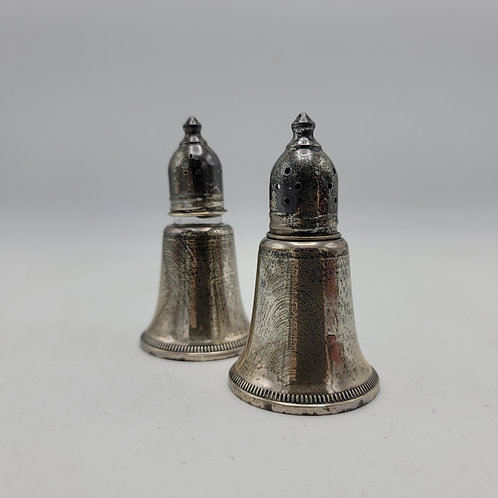 Pair of Vintage Sterling Silver S&P Salt and Pepper Shakers