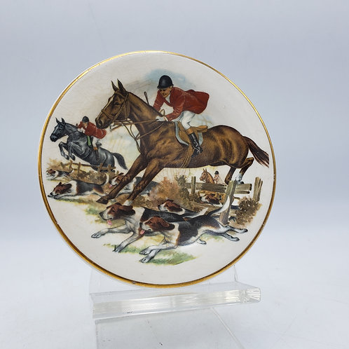 Vintage Plate by Liverpool Road Pottery Stoke on Trent Fox Hunting
