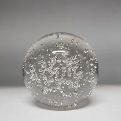 Goldinger Silver Art Co. Suspended Bubbles Paperweight