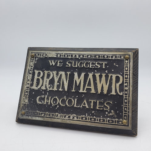 Vintage Bryn Mawr Chocolate Sign