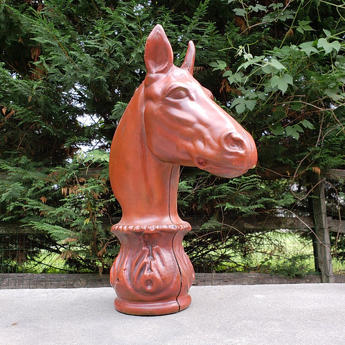 Metal Hitching Post Horse Head