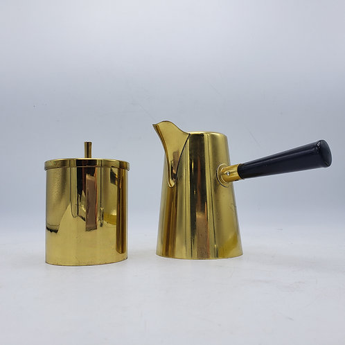 Italian Brass Creamer and Sugar - Tommi Parzinger Style