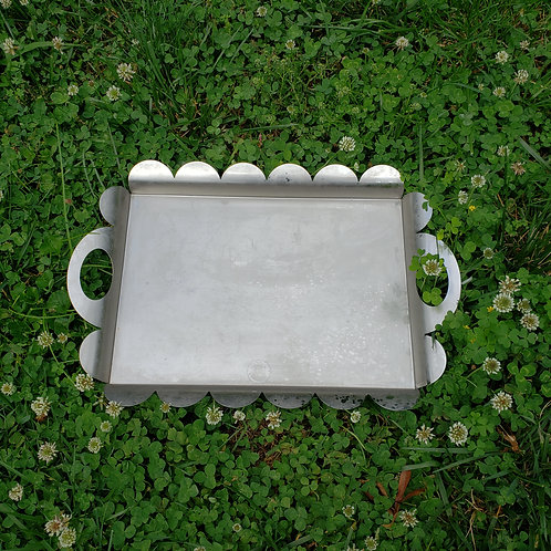 Alessi AM02 Recinto Scalloped Serving Tray