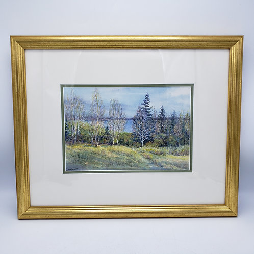 """Signed Watercolor Entitled """"Fall's Beauty"""" by Betsy Newitt"""