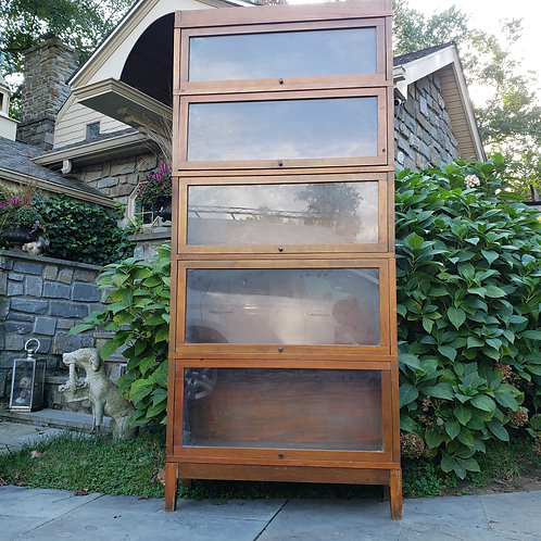 Tall Five Stack Barrister Bookcase