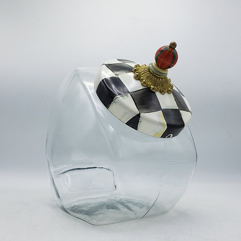 Mackenzie Childs Courtly Check Cookie Jar (3 Available)