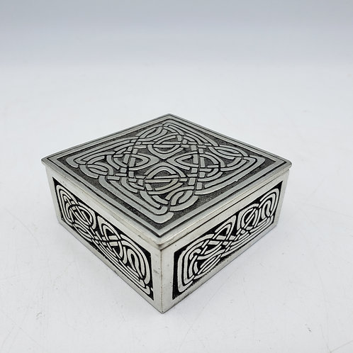 Small Pewter Celtic Lidded Box