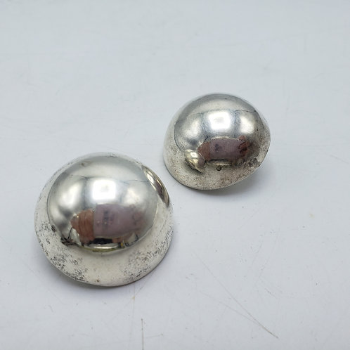 Pair of Sterling Silver Ball Clip On Earrings