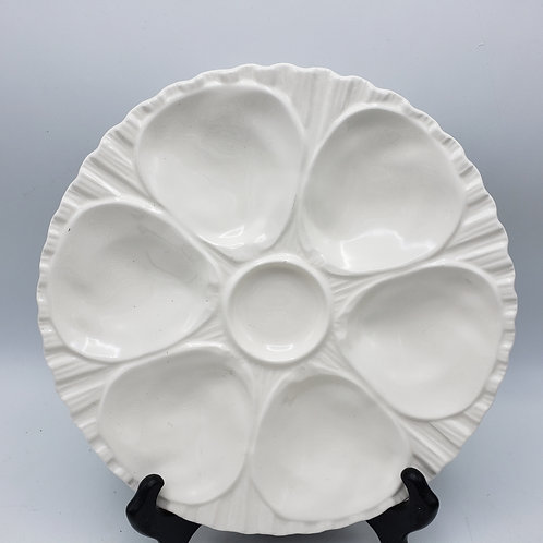 White Porcelain Oyster Plate