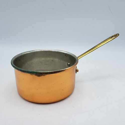 Small Vintage Copper Pot with Handle