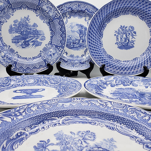Set of 6 Spode Blue Room Collection Decorative Plates