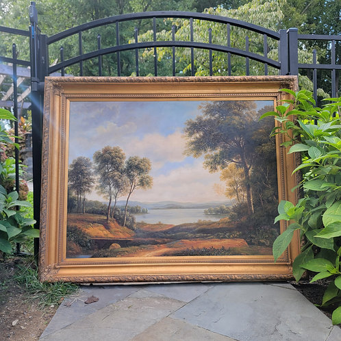 Very Large Decorator Landscape Oil Painting on Canvas