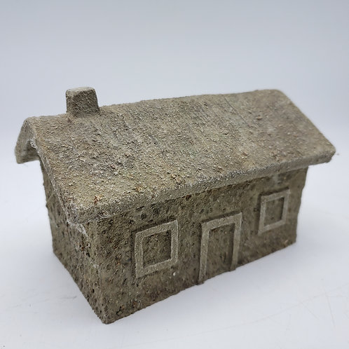 B D Miniature Resin Building ~ House with Chimney