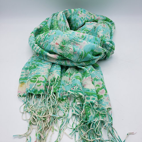 Lilly Pulitzer US Open Merion Gold Club Scarf