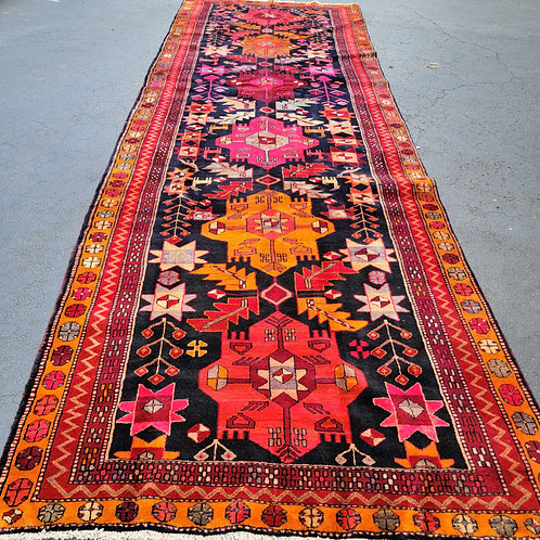 """Antique Hand Knotted 5'x 14' 4"""" Rug Runner"""
