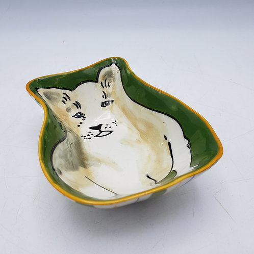 Charming Hand Painted Nut Dish of Dog