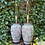 Thumbnail: Pair of Porcelain Asian Lamps Decorated with Flowers