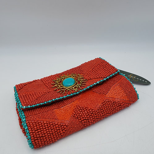 Brand New Red Beaded Mary Frances Crimson Tide Clutch Purse
