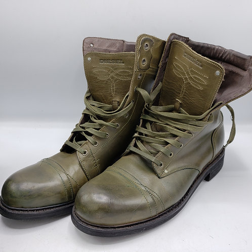 Diesel Cassidy Green Grun Army Military Men's Boots