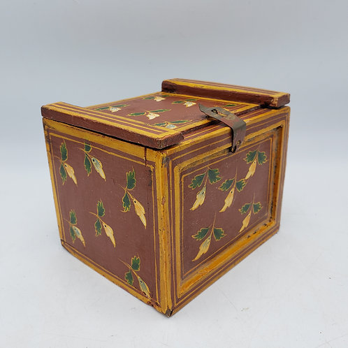 Small Painted Wooden Box with Drawers