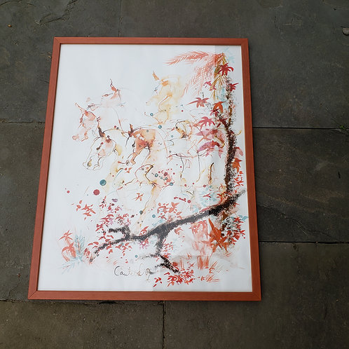 Abstract Signed Artwork of Leaves