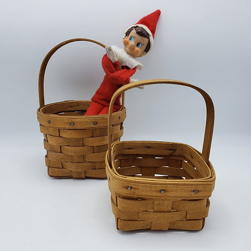 Set of 2 Small Vintage Longaberger Berry Baskets
