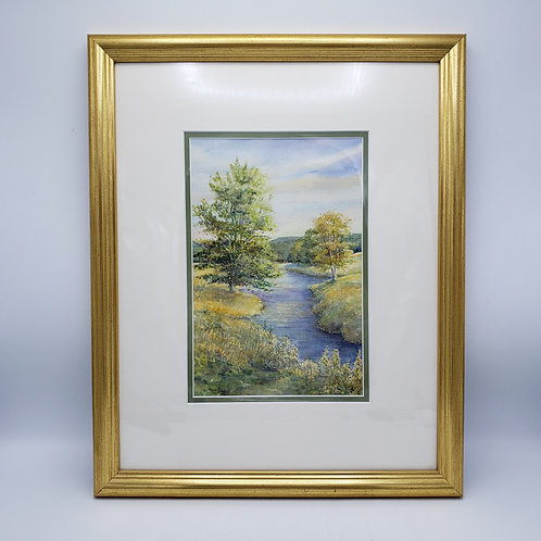 """Signed Watercolor Entitled """"Before the Storm"""" by Betsy Newitt"""