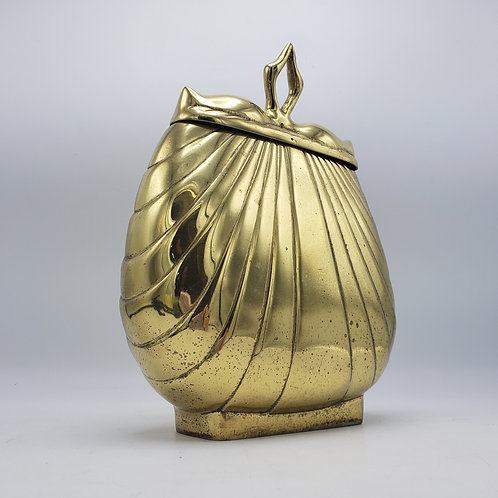 """Vintage Hollywood Regency Brass """"Purse"""" Container Home Decor"""