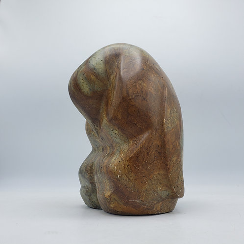 Vintage 1988 Signed E.A. Ryan Marble Stone Abstract Penguin Sculpture