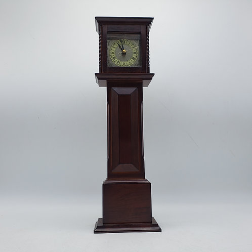 Bombay Company Miniature Wooden Tall Case Clock with Battery Operated Movement