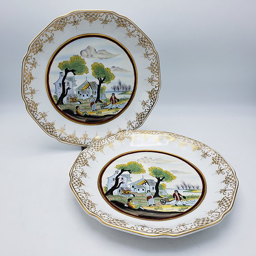 Pair of Decorative Speer Collectibles Porcelain Plates
