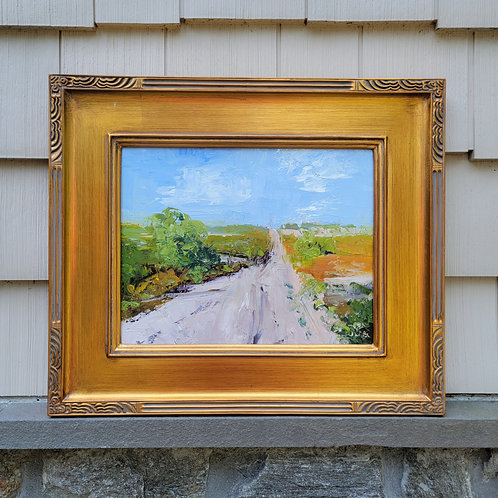 Signed Original Painting on Board with Plein Air Frame