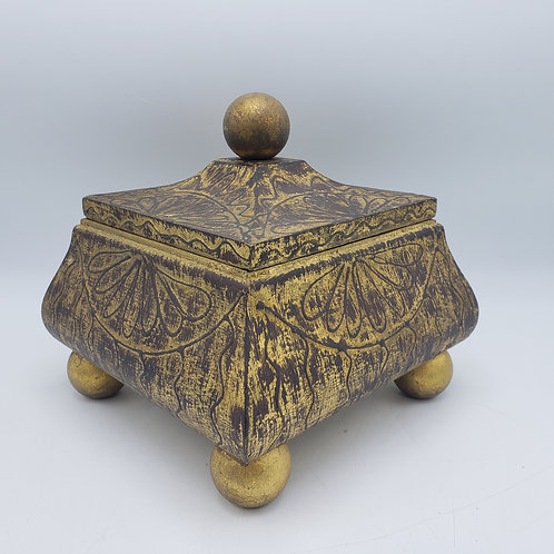 Decorator Gold Box with Lid