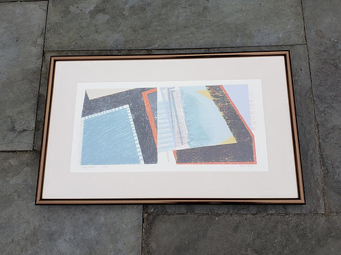 Modernist Martha Zelt Lithograph Entitled May Print