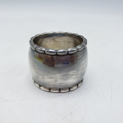 Vintage Sterling Silver Napkin Ring with Roped Top