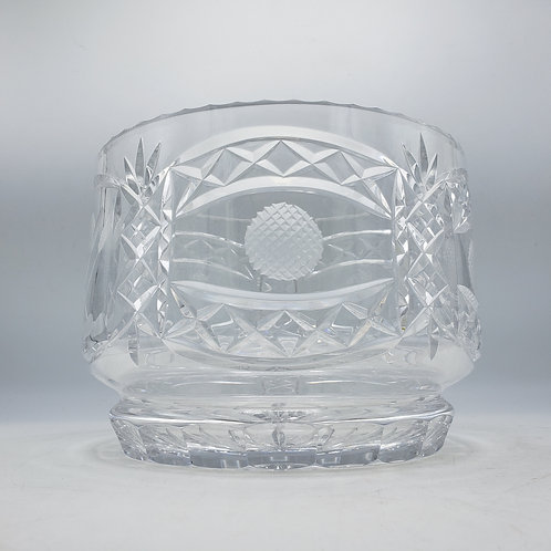 Large Crystal Golf Motif Bowl