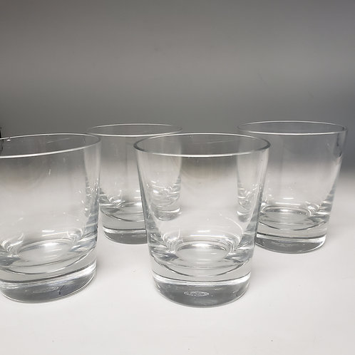 Set of 4 Baccarat Double Old Fashioned Glasses