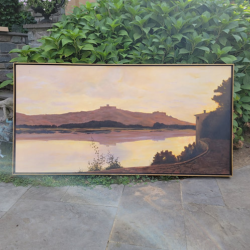 Very Large Oil Painting on Canvas of River