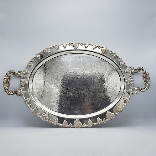 Large Silver on Copper Serving Tray by Federal & Co.