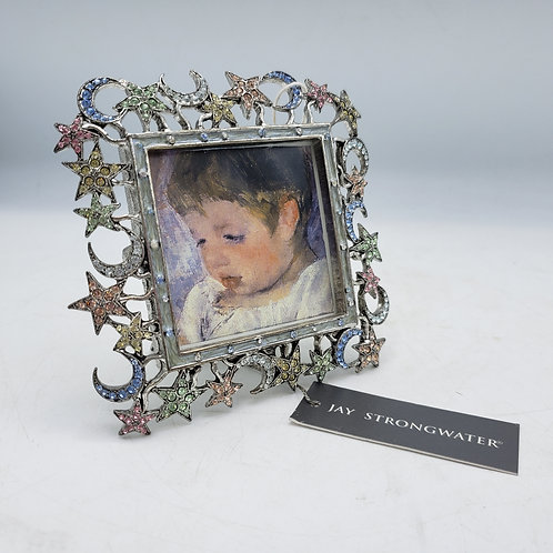 Rare Jay Strongwater Crescent Moon & Stars Frame