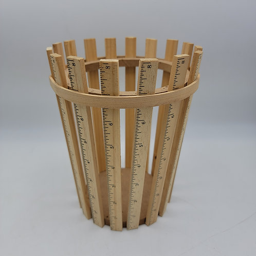 Wood Bucket Made with Rulers