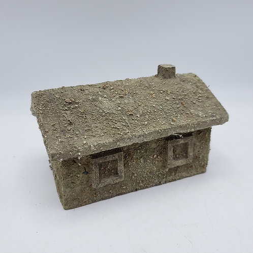 B D Miniature Resin Building ~ Small House with Chimney