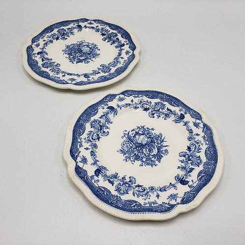 Pair of Blue & White Johnson Brothers Plates