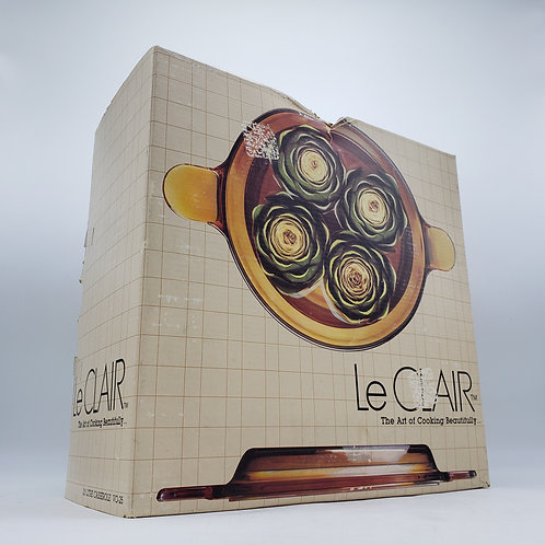 Vintage LeClair Vision Casserole Dish in Box