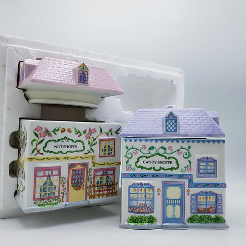 Vintage Lenox Village Sweets Canisters