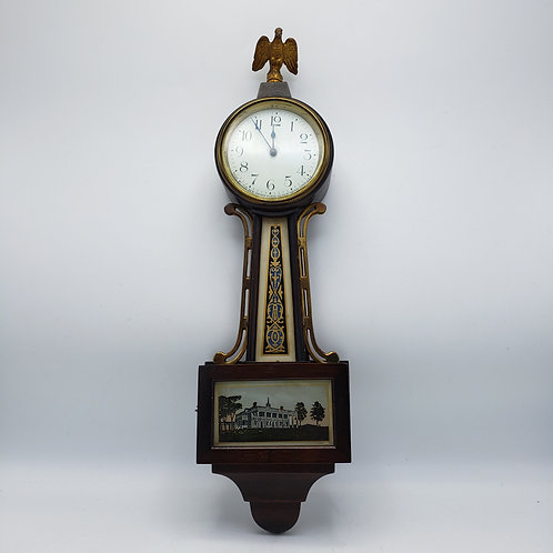 Vintage New Haven Clock Company Miniature Banjo Clock