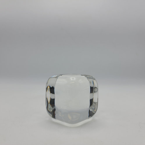 Vintage Baccarat Crystal Ice Cube Paperweight
