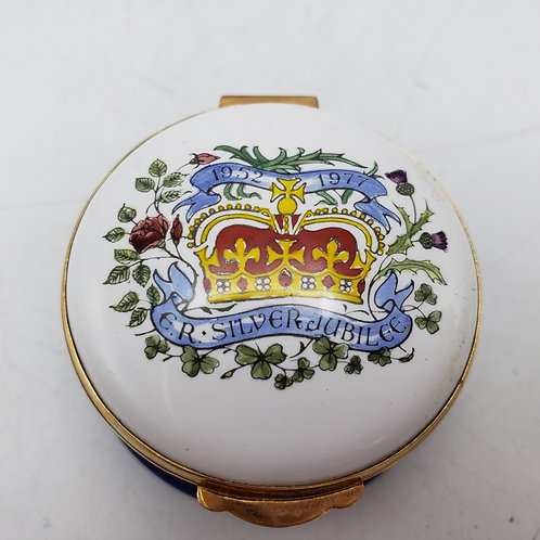 1952-1977 The Queen's Silver Jubilee Trinket Box by Crummles