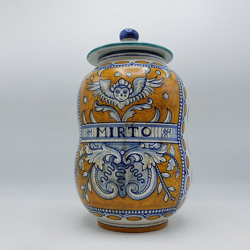 Handpainted Deruta Apothocary Jar with Lid